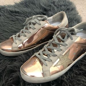 Golden goose size 37( size 7) superstar rose gold